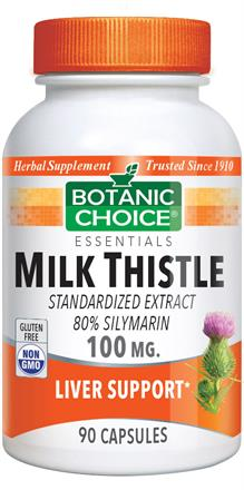 Milk Thistle Extract Capsules - 100mg (Botanic Choice)