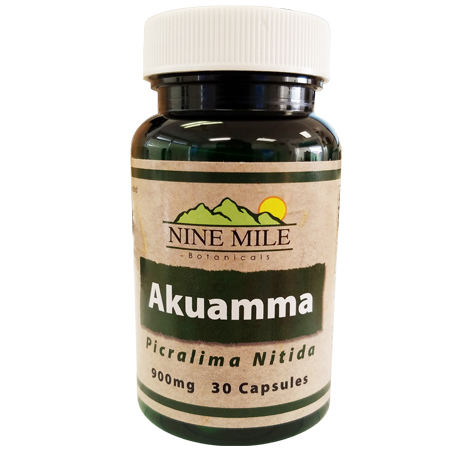 Akuamma Seed Powder Capsules (Nine Mile Botanicals)