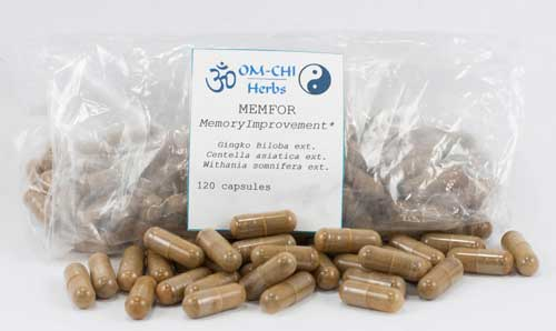 OM-CHI Herbs - MEMFOR Memory Improvement Capsules