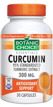 Curcumin 95% Turmeric Extract - 300mg (Botanic Choice)