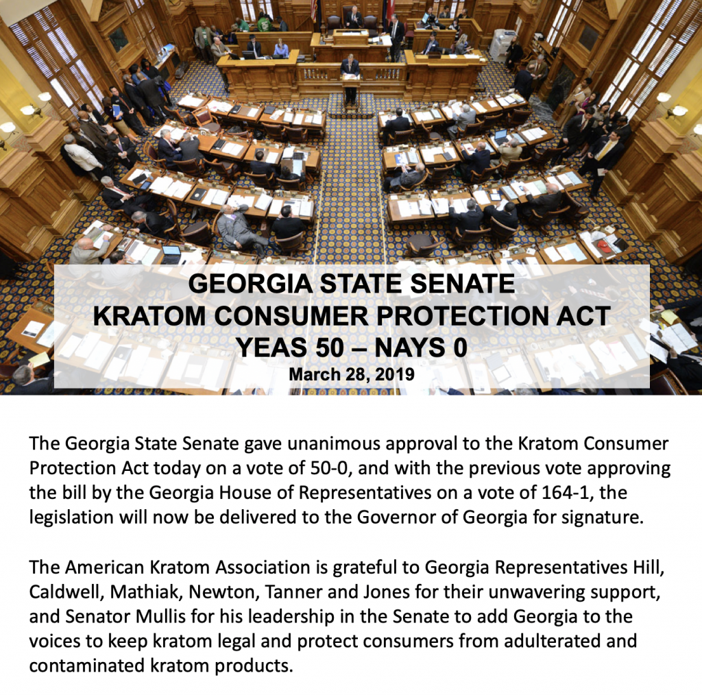 Georgia State Senate Unanimously Approves Kratom Bill