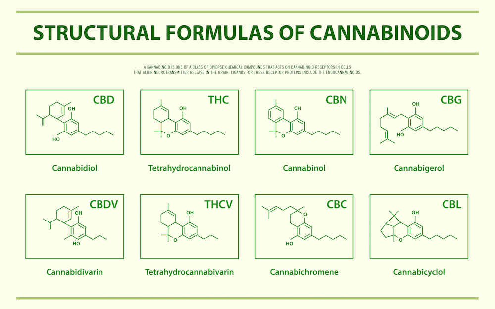 common cannabinoid structures