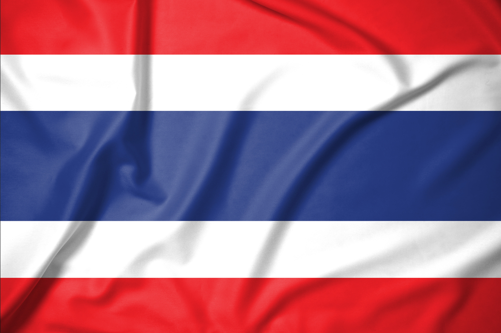 thailand flag red white blue stripes